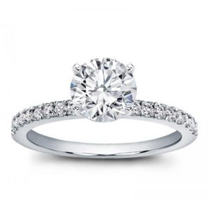 Classic Pave Engagement Setting Ring