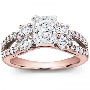 Round And Pave Setting Engagement Setting
