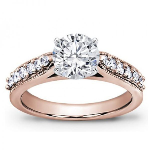 Pave Engagement Setting With Milgrain