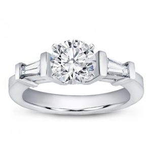 Tapered Baguette Engagement Setting
