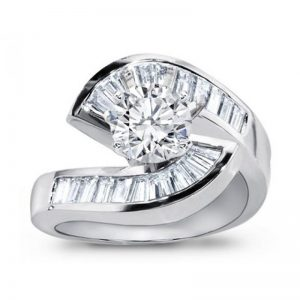 White Gold Diamond Engagement Setting