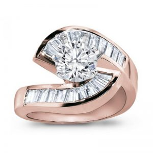 Rose Gold Diamond Engagement Setting