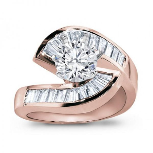 Rose Gold Diamond Engagement Setting