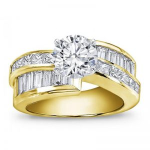 Princess Cut And Baguette Setting