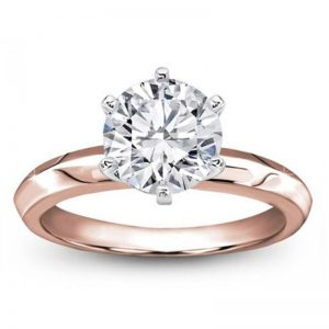 Six-Prong Knife Edge Solitaire Setting